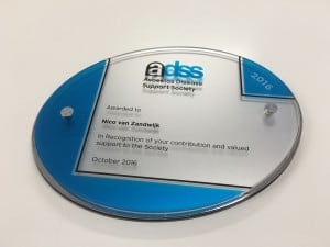 adss-plaque-presented-to-nico-van-zandwijk