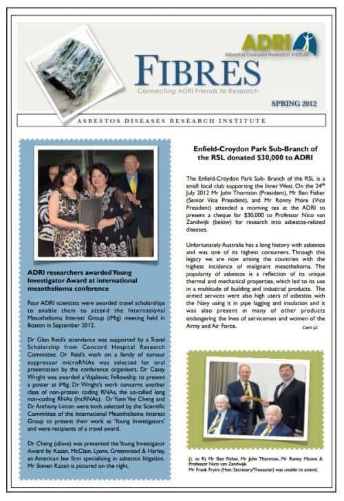 Spring Newsletter 2012