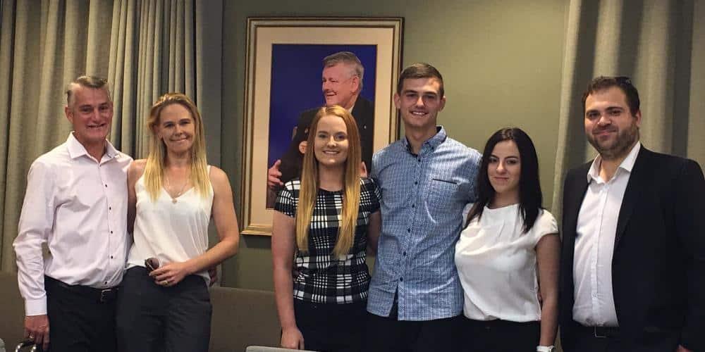 Bernie Banton portrait and the Banton Family