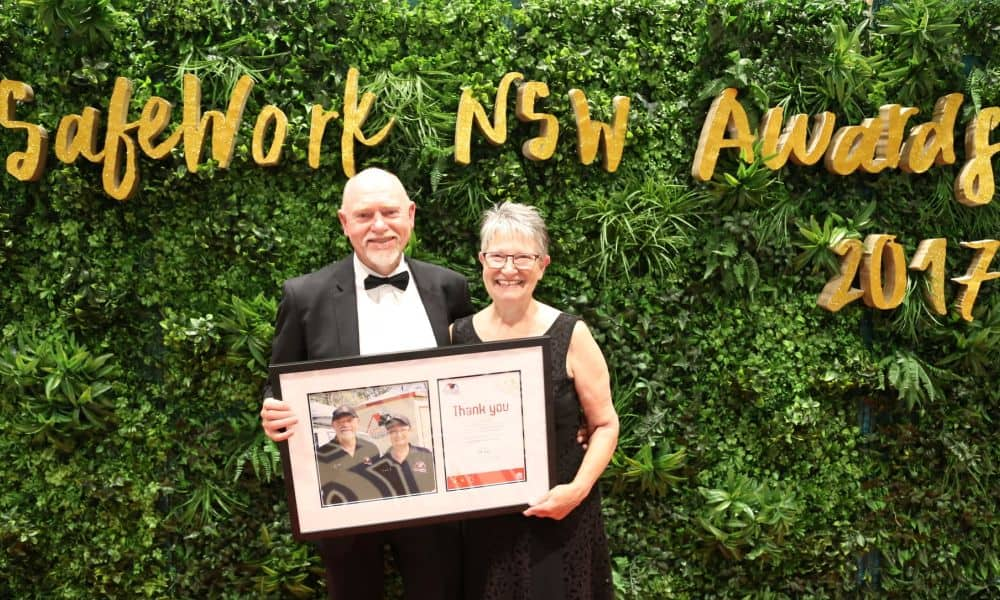 Geoff and Karen Wicks Safework NSW Awards 2017