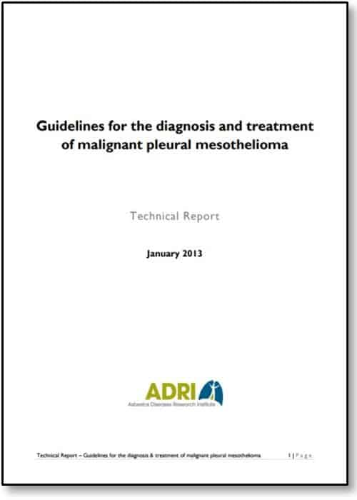 Technical Report Guidelines Diagnosis and Treatment of MPM