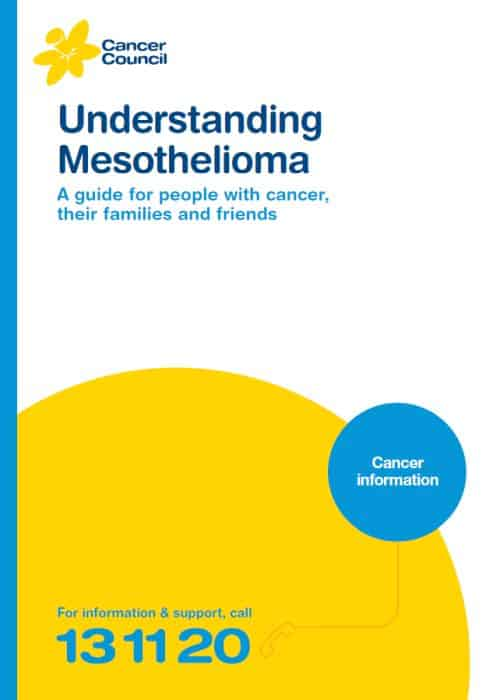 Understanding Mesothelioma - A guide for people with cancer,