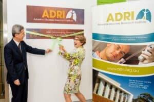 ADRI WHO ribbon cutting