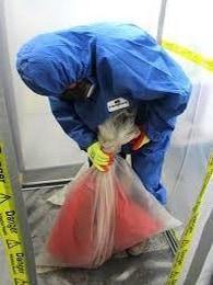 Bagging waste in bag lock