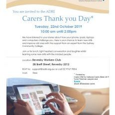 Carers Thank you Day 2019